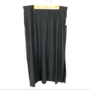 (L-20) Terra & Sky Black Maxi Skirt Size 0X 14W
